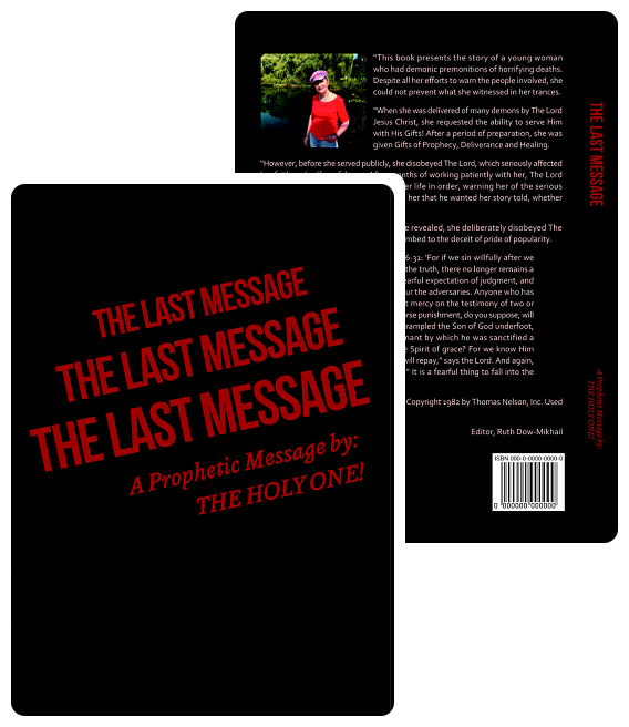 book front page title the last message